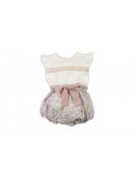Conjunto bebé niña cubre y blusa