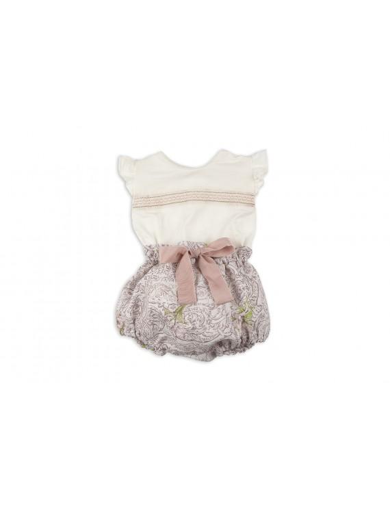 onjunto bebé niña cubre y blusa