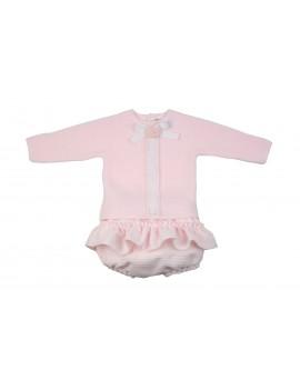 Conjunto bebé Baby Chanel rosa