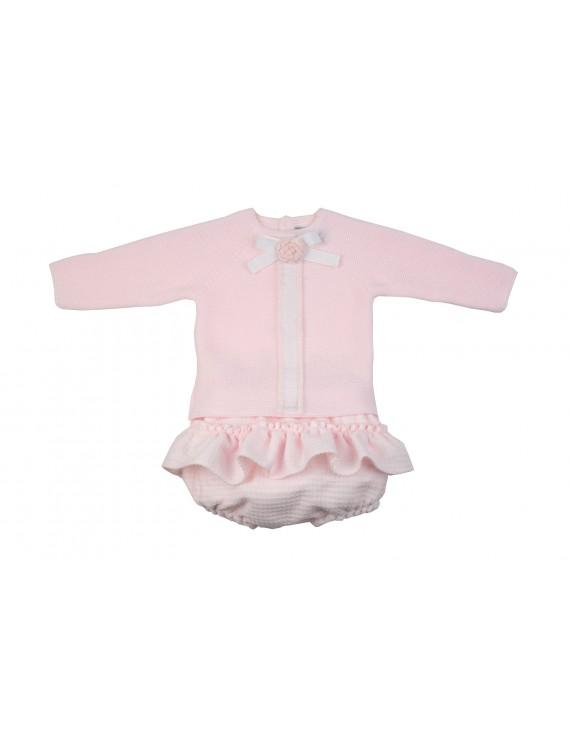 Conjunto bebé Chanel rosa
